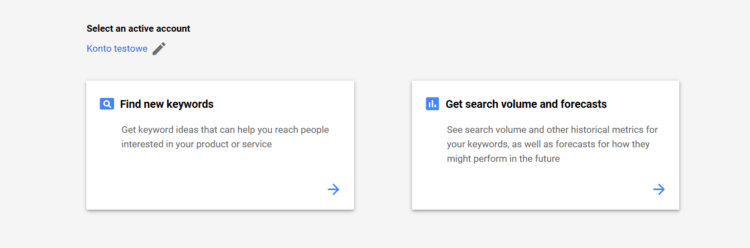 Finding right keyword in Google Ads