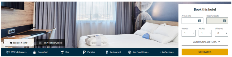 Hotel booking ux