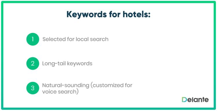 Keyewords for hotels