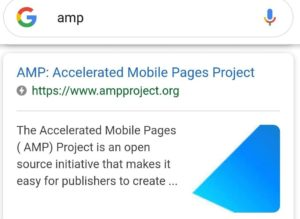 Oznaczenie stron AMP w wyszukiwarce