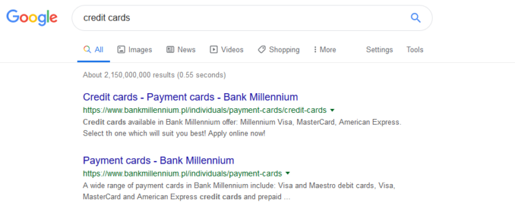 Alternatives for Google - difference between Google and Bing