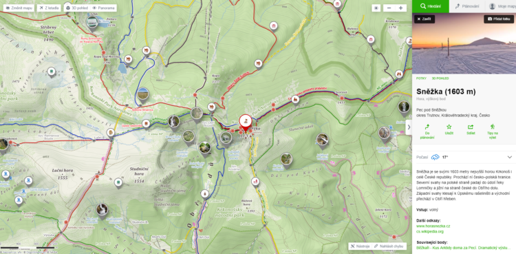 Seznam maps alternative for Google