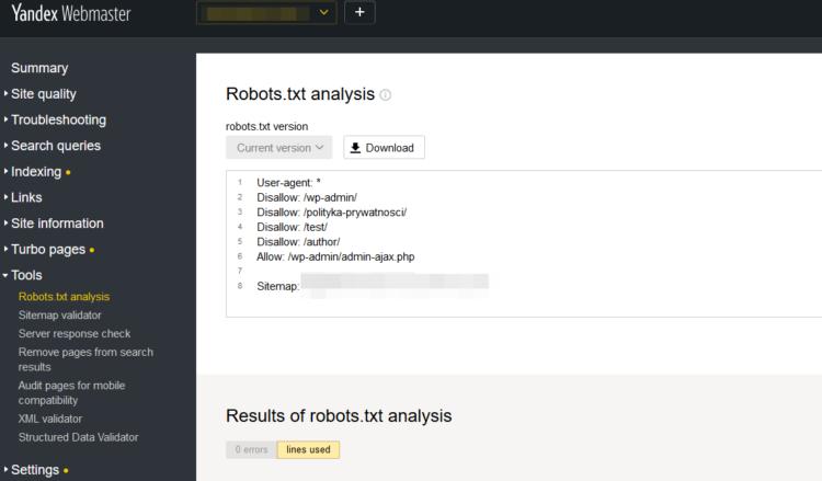 Alternative for Google - Yandex webmaster