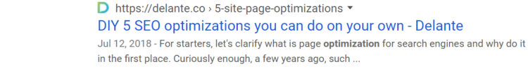 Content on a given site trick