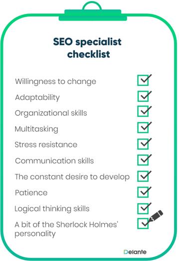 SEO specialist checklist