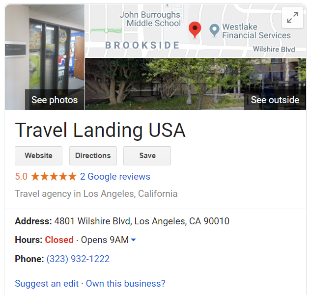Google My Business local seo - tourism