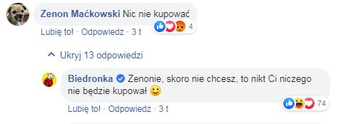 Reakcja na komentarze
