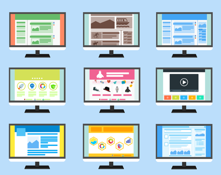 website templates option in a CMS