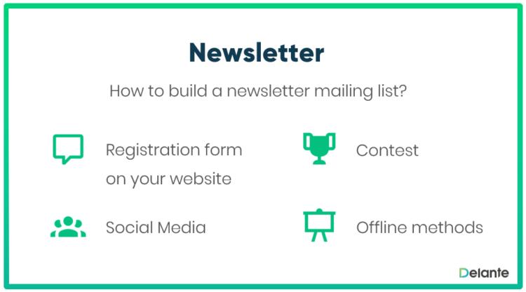 Newsletter mailing list