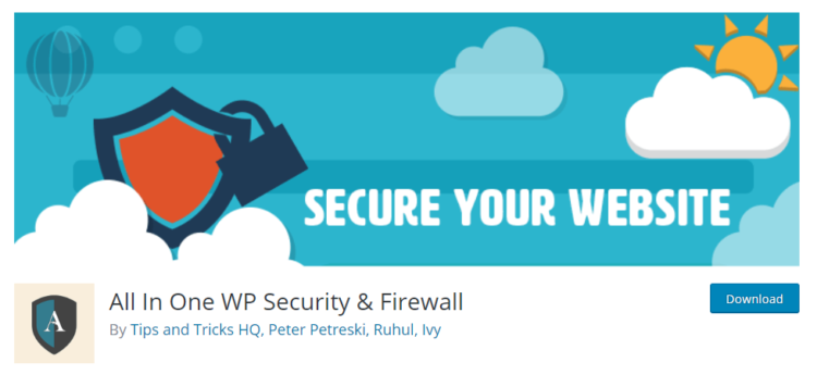 All in one wp security firewall - wordpress plugins