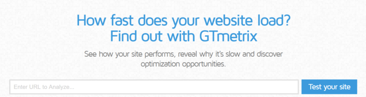 gtmetrix website loading time