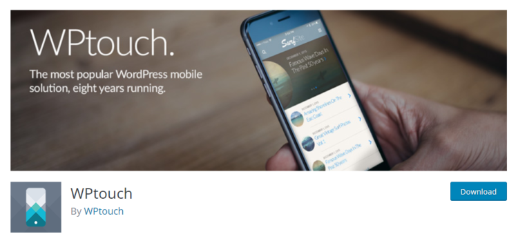 WPtouch mobile plugin - wordpress plugins