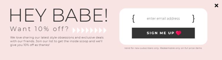 Repeat Customer - discount code