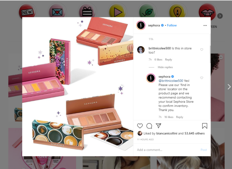 How to get repeat customer instagram comments