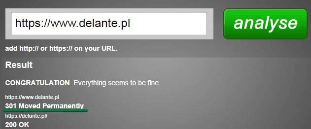 URL - przekierowania