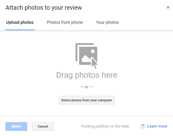 Add photo to review