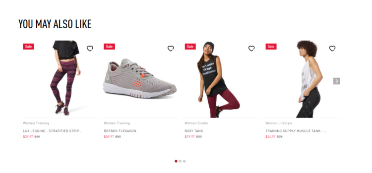 Cross-selling example