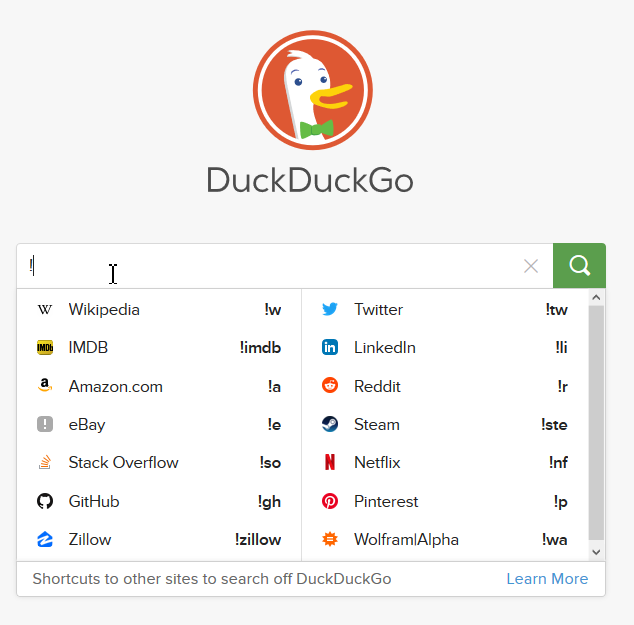 Duck duck go - foreign search engine