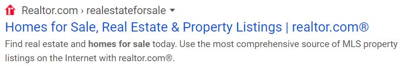 Meta description - the real estate industry
