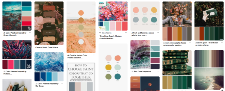 Tools for choosing a color palette