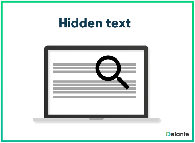 Hidden text - co to jest?