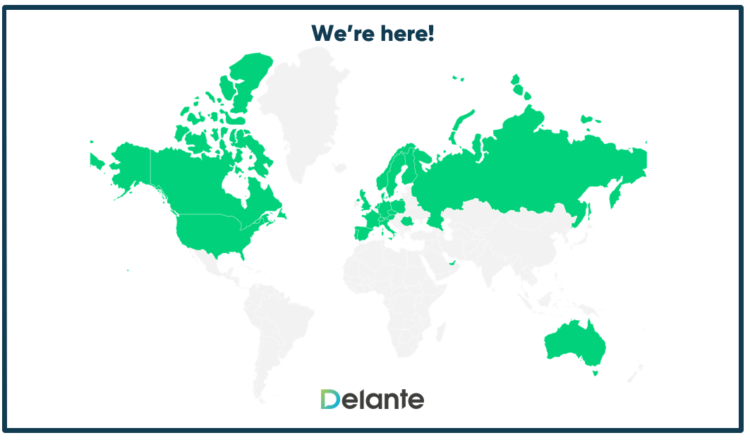International SEO - Delante map