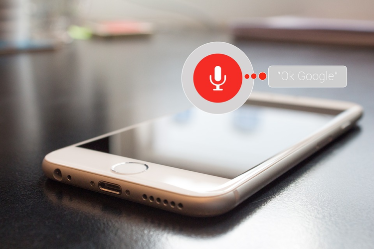 Google voice search on a mobile phone