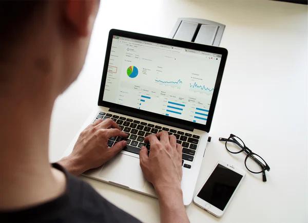 SEO expert auditing a website