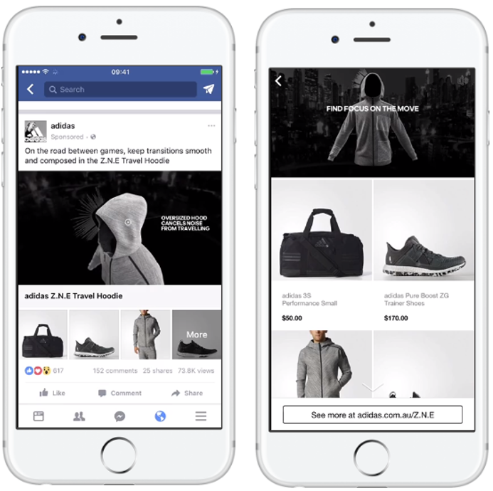 Facebook Ads specification - collection