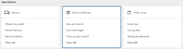 ASOS customer service - returns & refunds