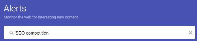 Competitor Analysis tools - Google Alerts