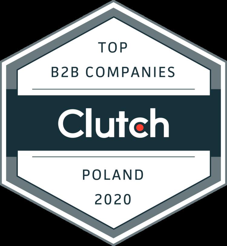 Top B2B Companies in Poland 2020 - Clutch badge