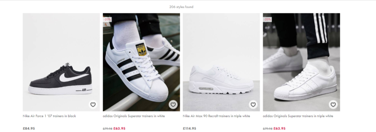 e-commerce filter ux example