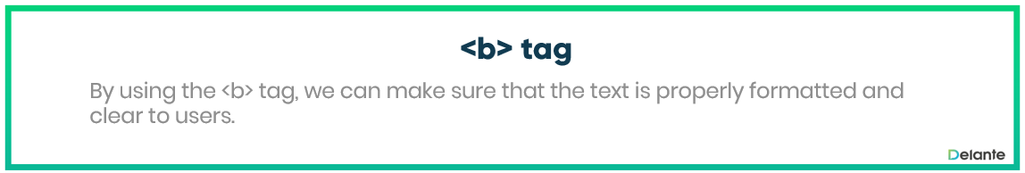Bold Tag - definition and use