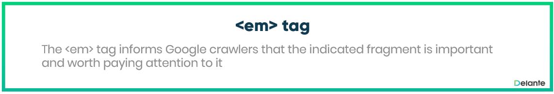 Em Tag - definition