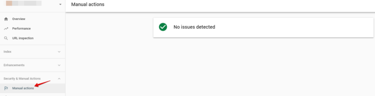 Screenshot from Google Search Console