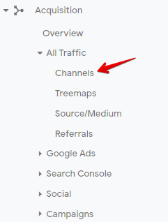 How to recognize that your website is penalized by Google - screenshot from Google Analytics