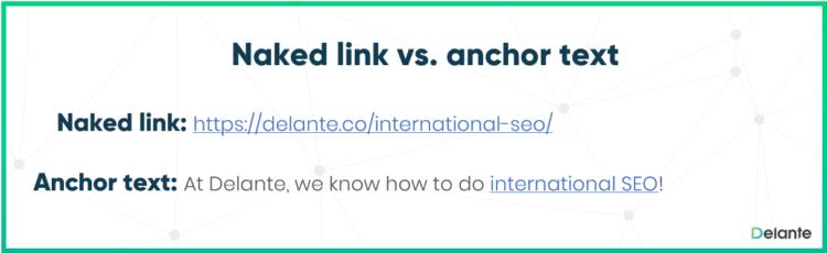 Anchor link vs naked link