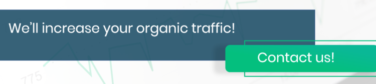 Delante will increase your organic traffic - contact us