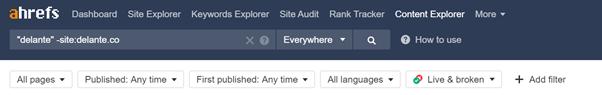 Ahrefs Content manager - screenshot of a dashboard