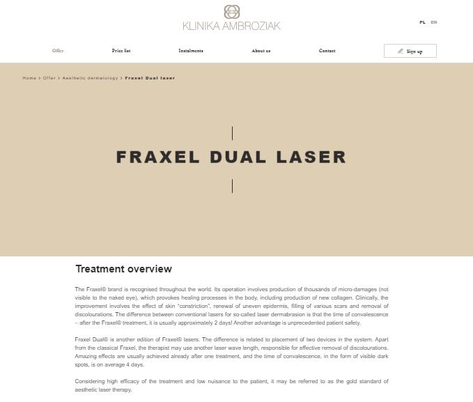 Treatment description - beauty industry marketing strategy