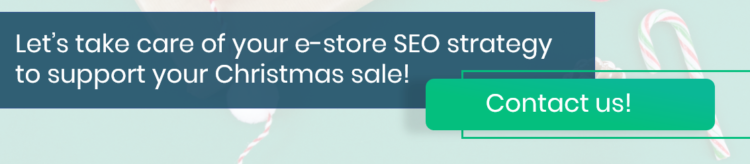 Support your Christmas sales with SEO - in advance!