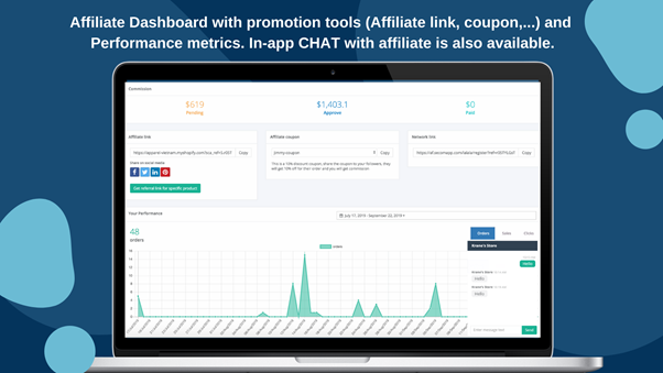 Affiliate marketing by Secomapp
