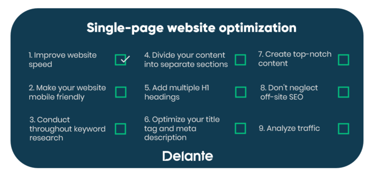 Single-Page SEO - checklist