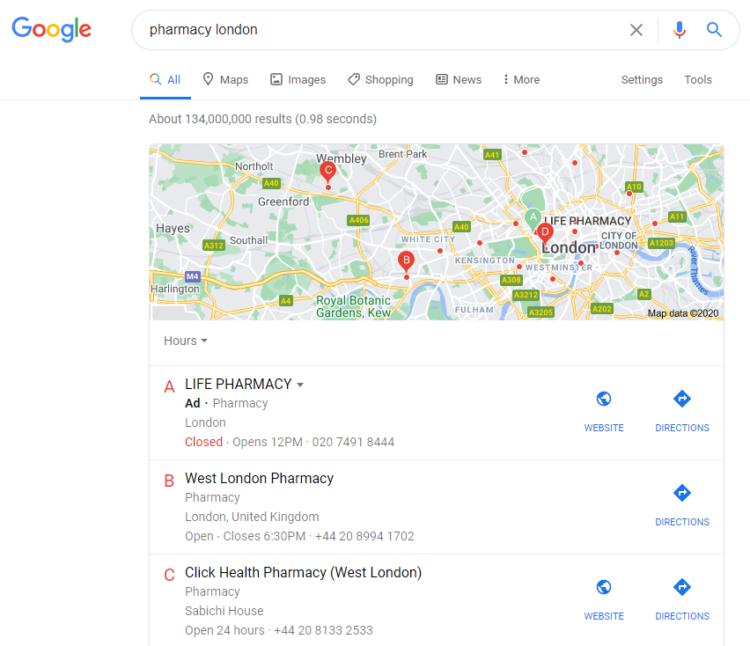 Local search in Pirat Google update