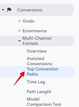 top conversion paths