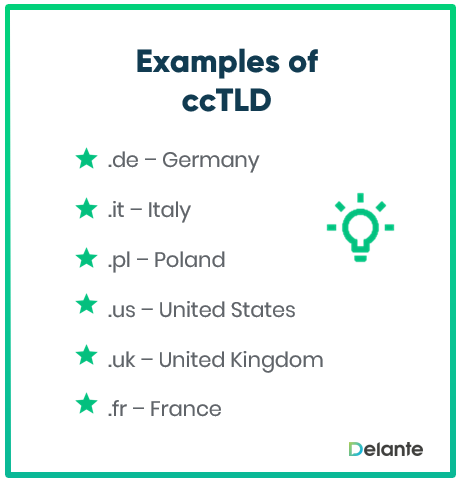 ccTLD domains examples