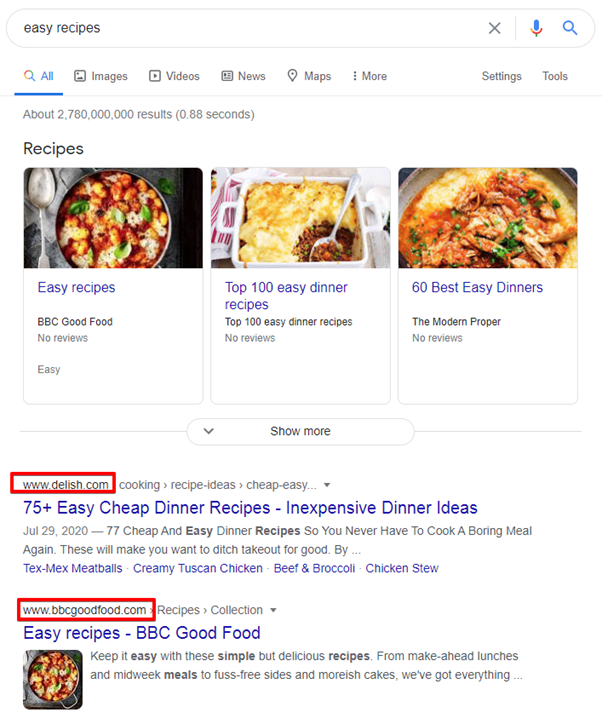 competitor analysis in google