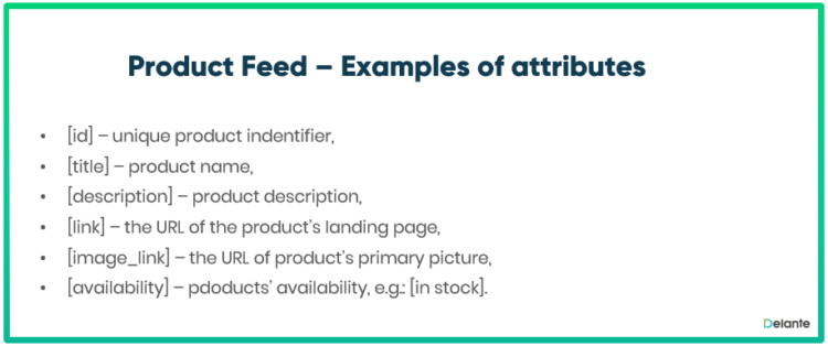 product feed definition examples