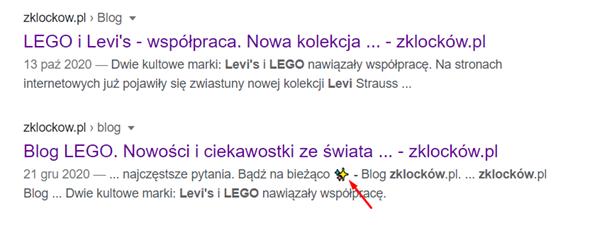 SERP for ZKlockow blog